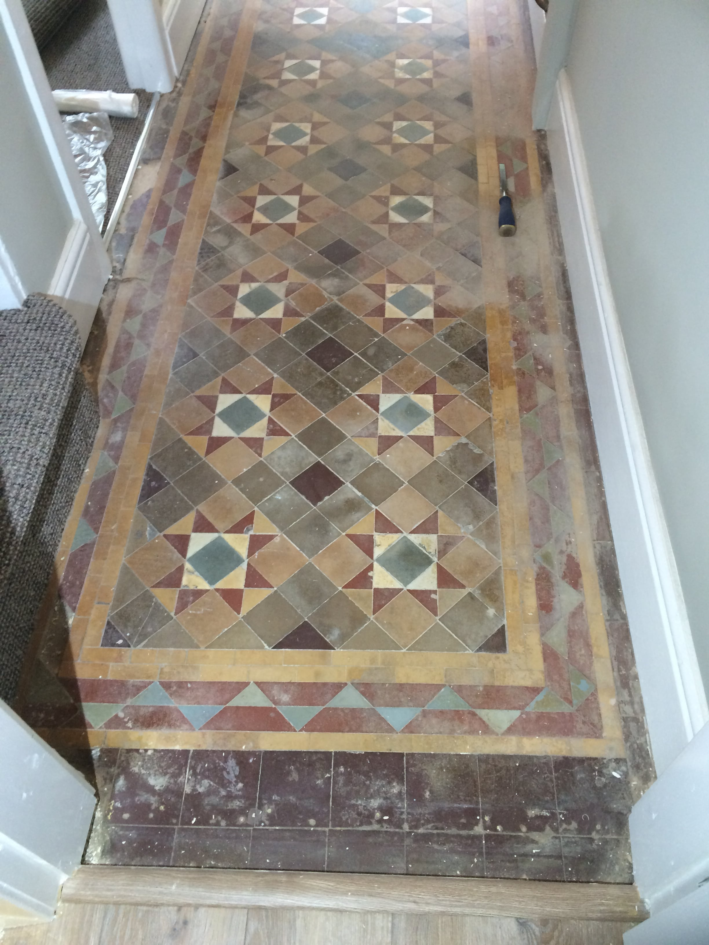 Victorian Tiles Before Renovation Burnley
