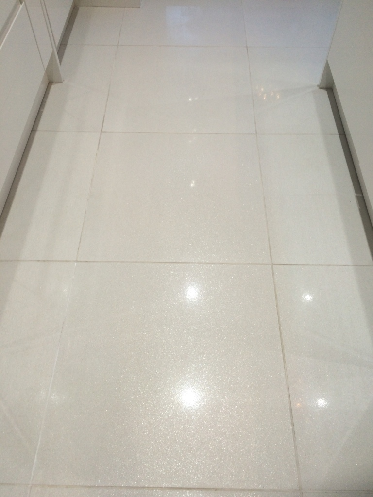 Porcelain Floor Tiles After Cleaning and Sealing in Heywood