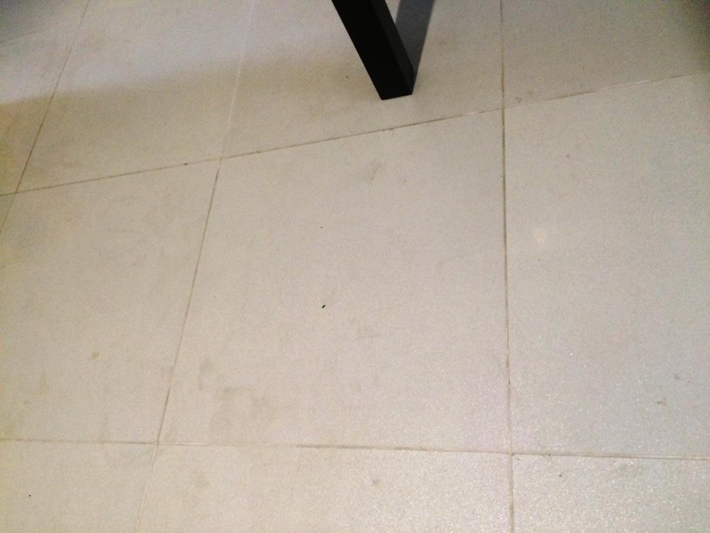 Porcelain Floor Tiles Before Cleaning in Heywood