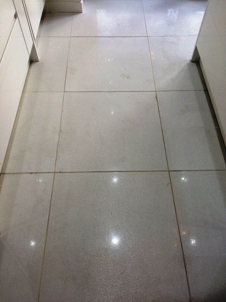 Porcelain Tiles Ruined by Builders Restored in South Lancashire