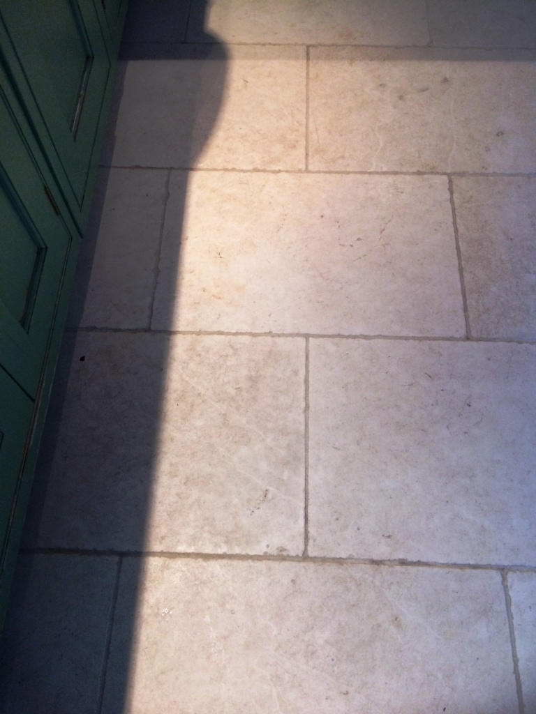 Bleach Etched Limestone Kitchen Floor Red In The Pennines