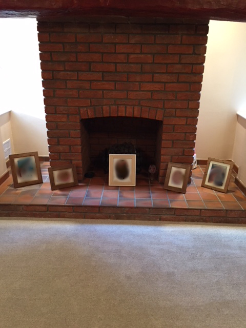 Wax Damaged Quarry Tiled Fireplace Surround Before Cleaning Rochdale