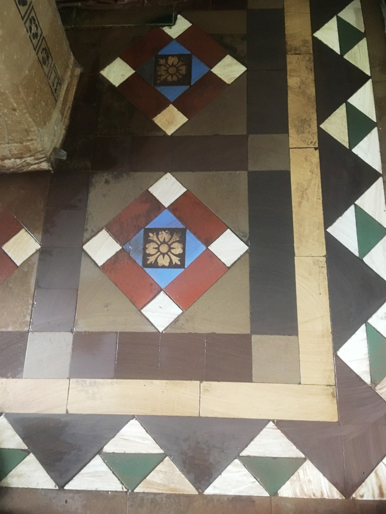 Stained Victorian Tiles During Cleaning Ramsbottom