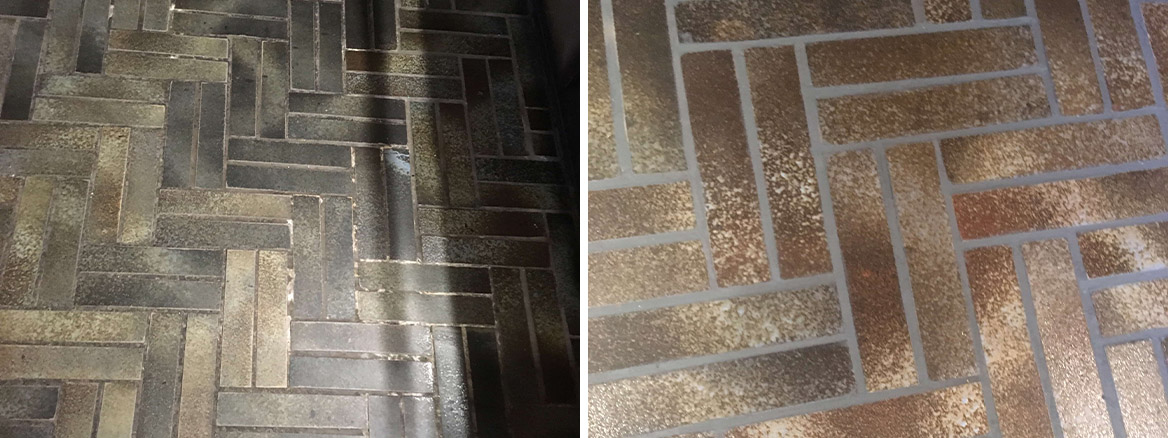 Lime Mortar Grout Before and After Restoration Bury Cottage