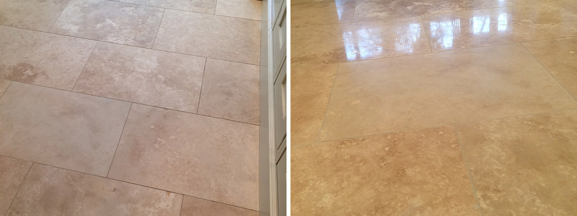 Polishing and Sealing Travertine Tiles in Blackburn