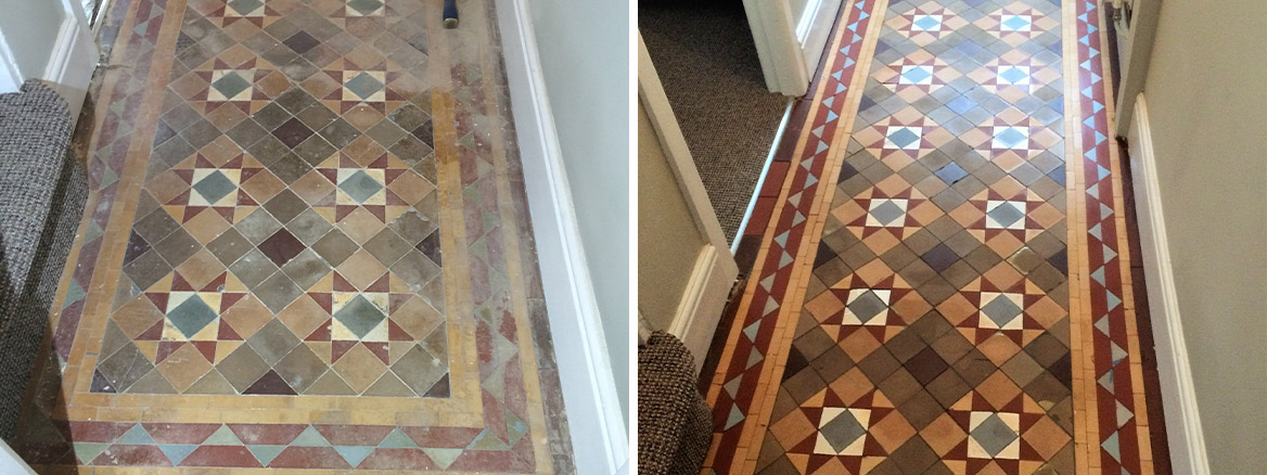 Victorian Tiles Before and After Renovation Burnley